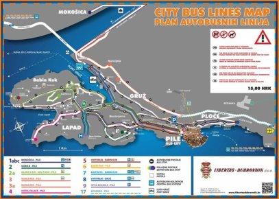 le plan des bus de la ville de Dubrovnik - l'autre ailleurs en Croatie, une autre idée du voyage