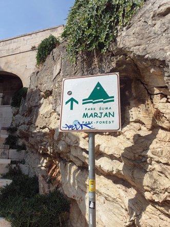 début de la balade vers la colline Marjan à Split - l'autre ailleurs en Croatie, une autre idée du voyage