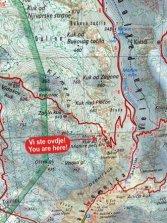 un extrait de carte du parc national de Paklenica - l'autre ailleurs en Croatie, une autre idée du voyage