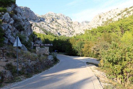 entrée du parc national de Paklenica - l'autre ailleurs en Croatie, une autre idée du voyage