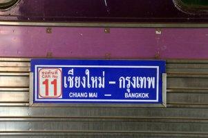 train de Chiang Mai à Bangkok dans la gare de Chiang Mai - l'autre ailleurs au Myanmar (Birmanie) et Thaïlande, une autre idée du voyage