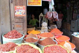 La vendeuse de piment sur le marché de Jade à Mandalay au Myanmar - l'autre ailleurs au Myanmar (Birmanie) et Thaïlande, une autre idée du voyage
