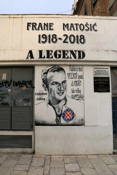 hommage au footballeur Frane Matosic à Split - l'autre ailleurs en Croatie, une autre idée du voyage