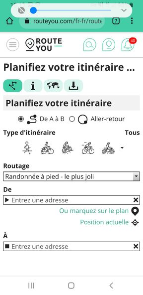 Import d'un fichier GPX dans Route You (https://www.routeyou.com/fr-fr/) - étape 1 - l'autre ailleurs en Vélo, une autre idée du voyage (www.autre-ailleurs.fr)
