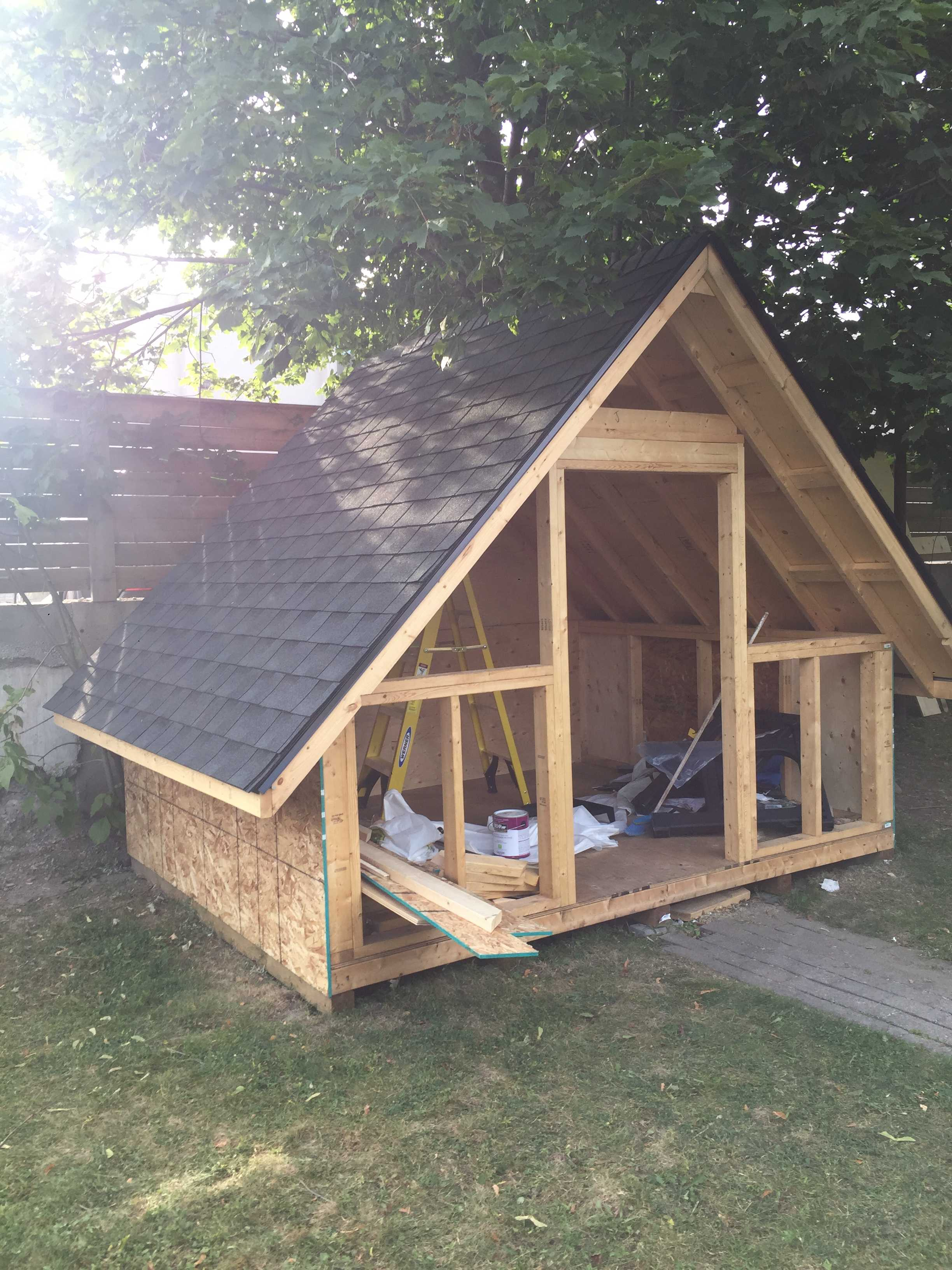 DIY A-Frame Shed Build with Home Depot Canada