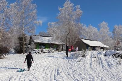 neige vacances février chalet