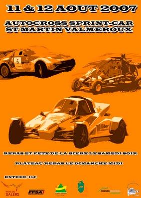 Affiche de l'autocross de Saint Martin Valmeroux, Cantal