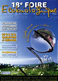 Foire Bio, Aurillac, Cantal, Auvergne, l'affiche