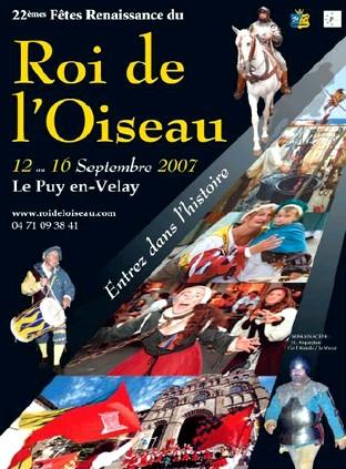 Fête renaissance du roi l'oiseau au Puy en Velay, Haute Loire (43)