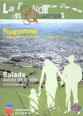 Ronde des quartiers à Aurillac, Cantal,promenade et loisirs.