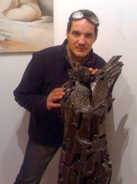 Nigou, sculpteur, exposition à la galerie Clac, Aurillac, Cantal (photo)