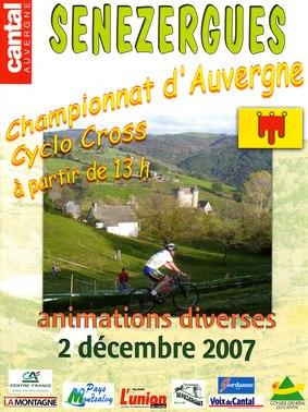 Championnats d'Auvergne de Cyclo cross à Sénezergues Cantal