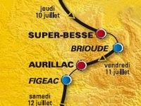 Parcours du Tour de France 2008, Aurillac, Brioude, Cantal