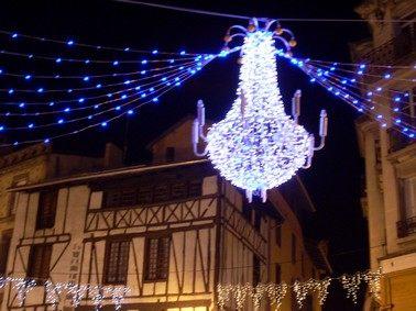 Illumination de noël, ville d'Aurillac, Cantal