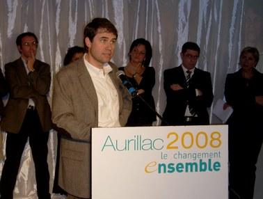 Jean François Collin, le changement ensemble, Municipales Aurillac 2008