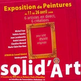 Solid'Art au conseil général du Cantal