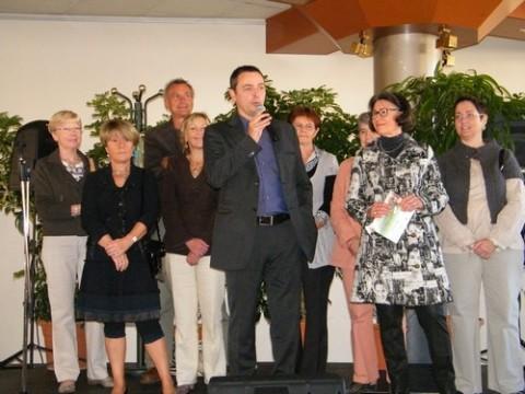 Alains Calmette, élus, et organisateurs présentent cette manifestaion