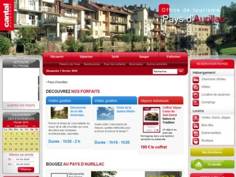 Site de Office de Tourisme d'Aurillac
