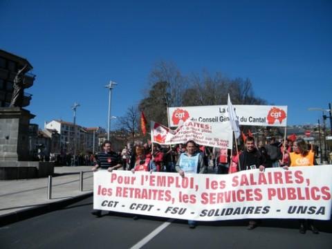 Grève à Aurillac, Cantal