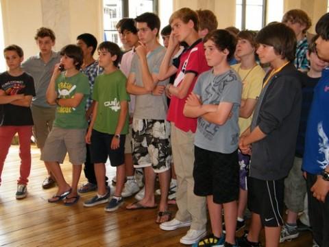 Les élève de Worth School à Aurillac