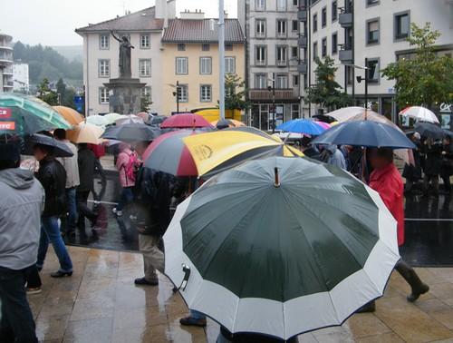 Le parapluie à l'honneur dans sa Capitale: Aurillac
