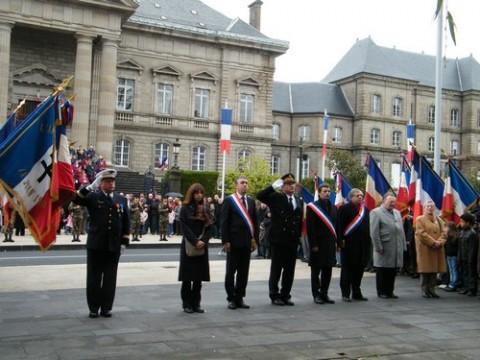 Cérémonie du 11 novembre à Aurillac