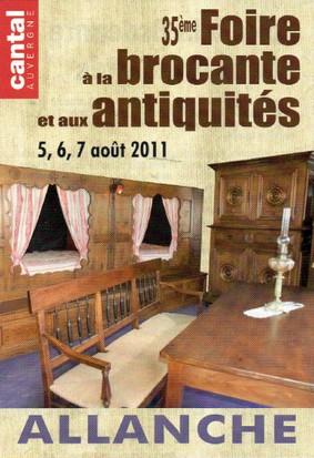 Foire à la brocante et antiquitées à Allanche, Cantal