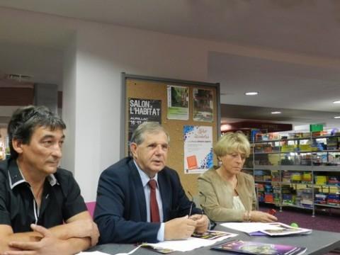 Médiathèque en fête, Jean-Paul Nicolas, Jacques Mézard, Josiane Coste