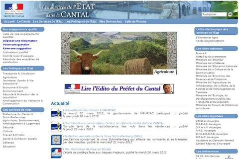 Nouveau site internet de la Préfecture du Cantal