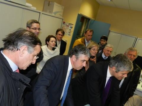 Laurent Wauquier en visite à l'IUT d'Aurillac