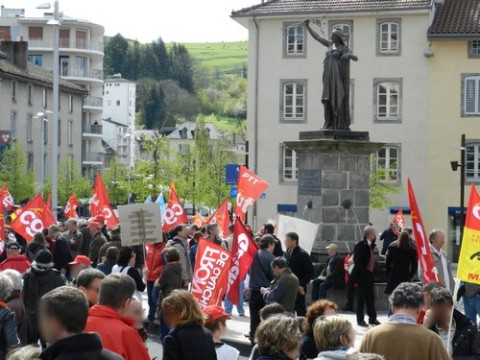 1er mai 2012 à Aurillac