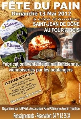 Fête du pain à St Jean de Dône
