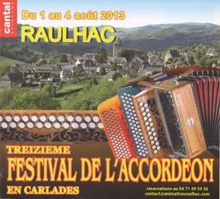 Festival d'accordéon et gala de Raulhac 2013