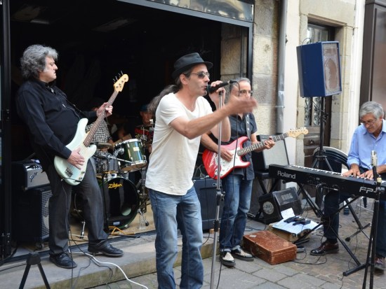 Les Blues Salopards, fête de la musique 2015 à Aurillac