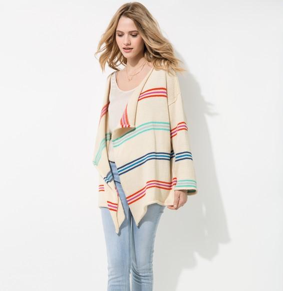 Modèle veste rayée femme Tendresse