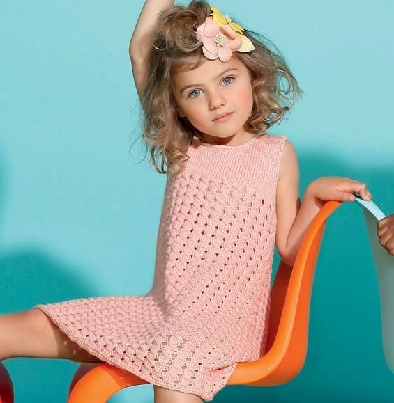 Modèle robe chasuble fille