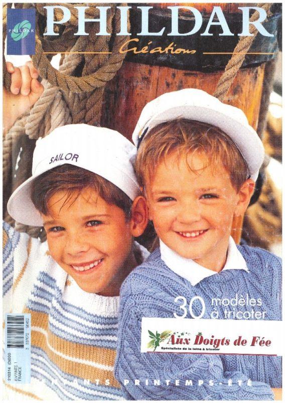 Catalogue PHILDAR enfants printemps été, 30 modèles à tricoter, l'été en chanson ,1999 PDF N° 314