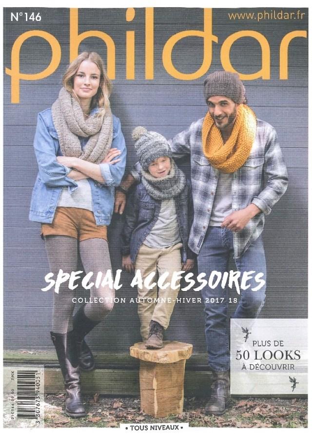 N° 146 PHILDAR spécial accessoires automne - hiver 2017-2018