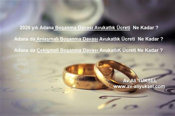 Adana da boşanma davası  ücreti ne kadar ?