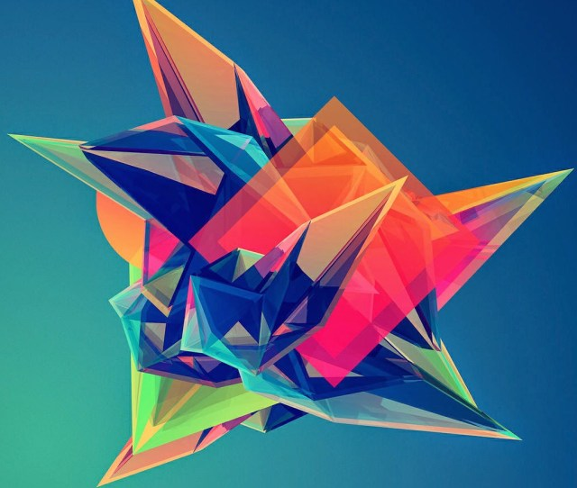 Colorful Cool Abstract Polygonal Shape Iphone  Plus Hd Wallpaper