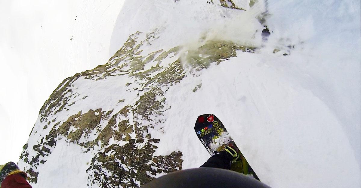 snowboard cliff jump