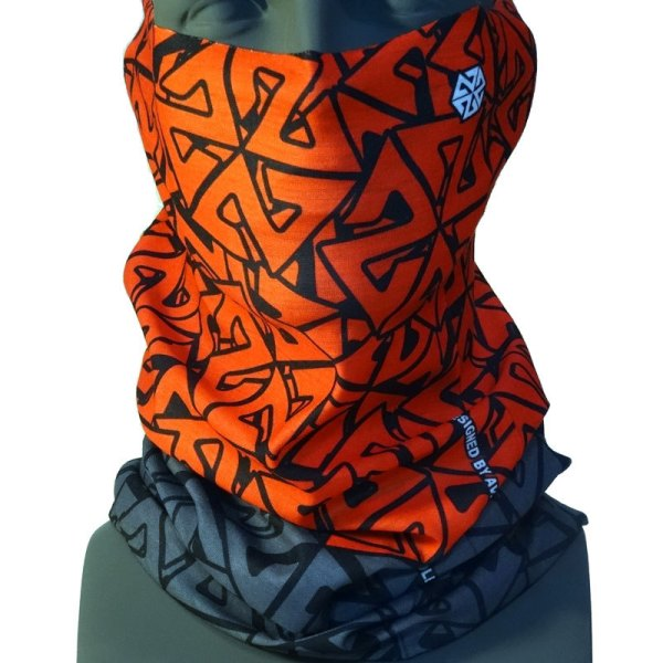 AVALON7 Tshield Cascade Red Grey snowboard facemask