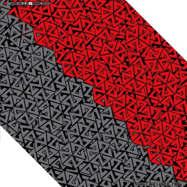 AVALON7 RED AND GREY BANDARIL SKI BANDANA FACEMASK
