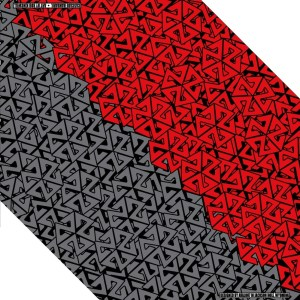 AVALON7 RED AND GREY BANDARIL SKI BANDANA FACEMASK