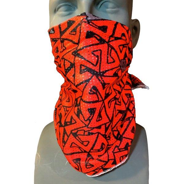Mesh Snowboarding Bandana Facemask Red Grey