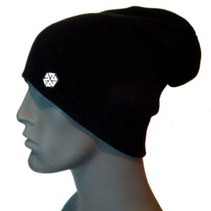 avalon7 warm black long winter snowboarding skiing beanie