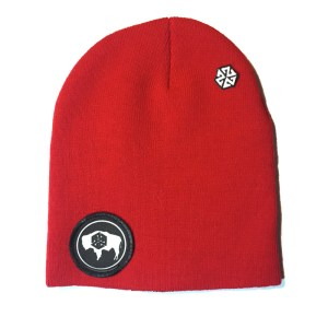 AVALON7 Wyoming Bison Winter Beanie RED