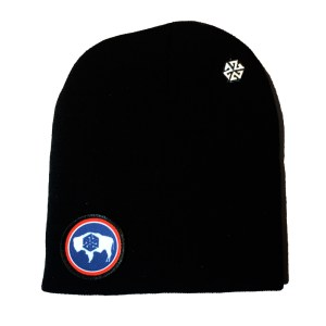 AVALON7 Wyoming Bison Winter Snowboarding Beanie black