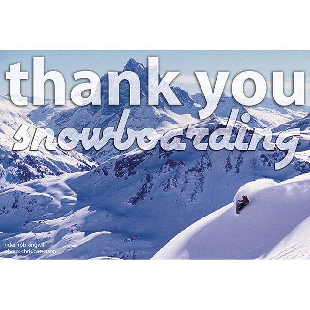 Thank You Snowboarding- AVALON7 Adventure Co.