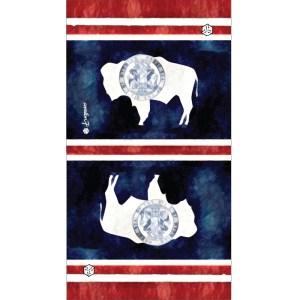 Wyoming Flag Bison Faceshield neckgaiter by AVALON7